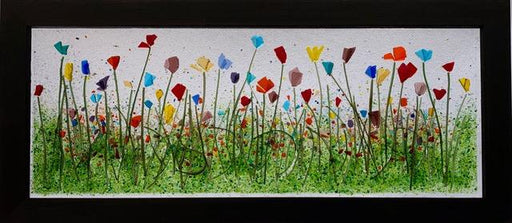 English Garden Glass Art Frame - Artfest Ontario