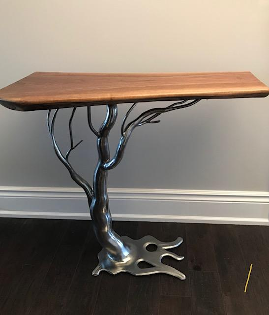 Entranceway Accent Table - Artfest Ontario - Art In Metal - Paintings, Artwork & Sculpture