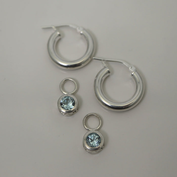 Esme - Sky Blue Topaz - Artfest Ontario - Devine Fine Jewellery - Earrings