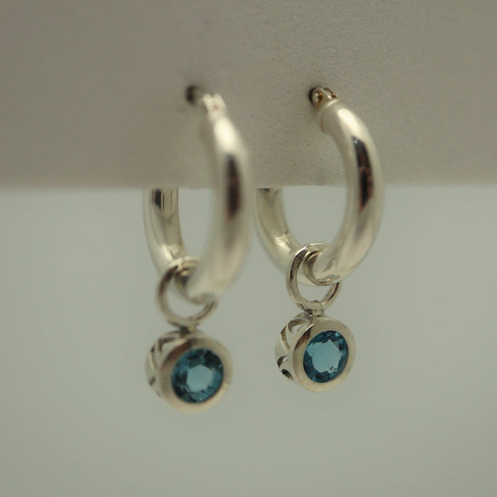 Esme - Swiss Blue Topaz - Artfest Ontario - Devine Fine Jewellery - Earrings