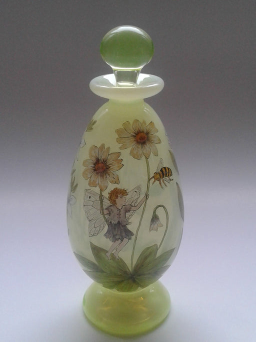 Fairy Bottle on Vaseline Glass - Artfest Ontario - Lukian Glass Studios - Glass Work