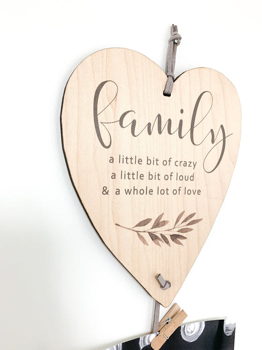 Family is a Little Bit Crazy Memory Keeper - Artfest Ontario - Urban Nest Decor - Ready Made Memory Keepers