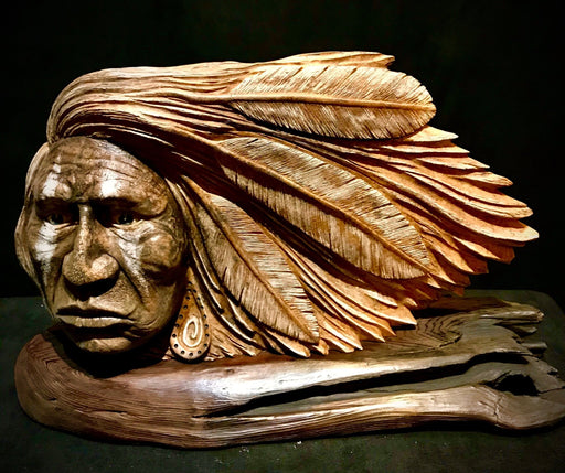 Feathers in his Hair - Artfest Ontario - Native Expressions -