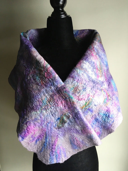 Felted shoulder wrap - Artfest Ontario - Love to Felt Artwear - Clothing & Accessories