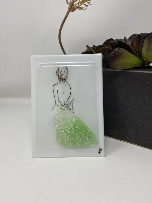 Female Sketch - Artfest Ontario - Shardz Art Glass - Glass Work