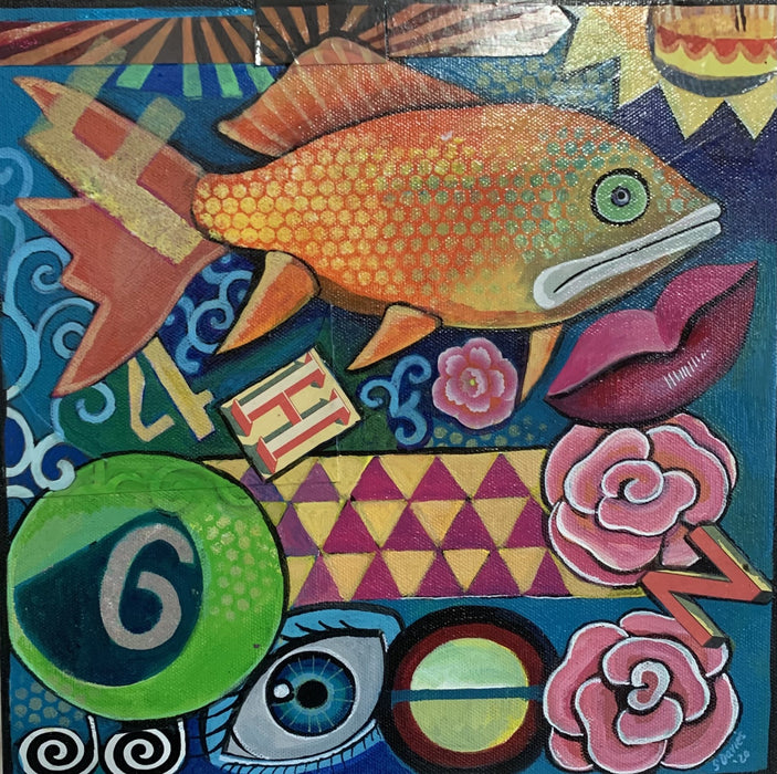 FH46 Fish - Artfest Ontario - Sue Davies Art - Paintings