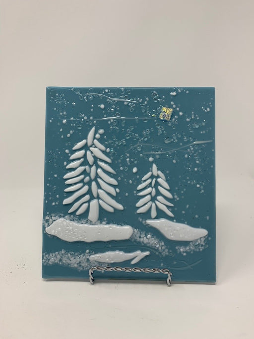 Fir Tree Art Plaques - Artfest Ontario - Shardz Art Glass - Glass Work