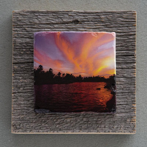 Follow The Sunset - On Barn Board 0149 - Artfest Ontario - Art On Stone - Photography