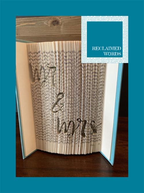 For the Special Couple Book - Artfest Ontario - Reclaimed Words -