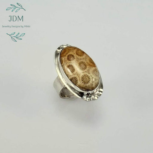 Fossilized Coral Ring - JDM Jewelry Designs by Mikki - Artfest Ontario - JDM - Jewelry Designs by Mikki - Jewelry & Accessories