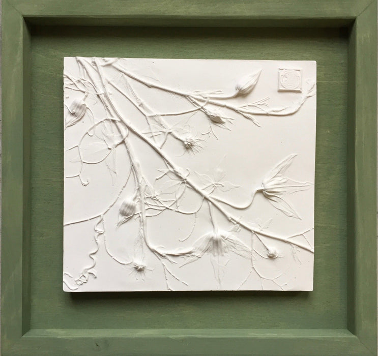 Framed Botanical Cast - Sage Green - Artfest Ontario - Botanical Art By Diane - Botanical Casts