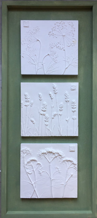 Framed Botanical Trio - Sage Green - Artfest Ontario - Botanical Art By Diane - Botanical Casts