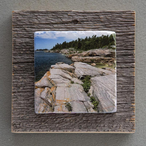 Franklin Syncline Rocks - On Barn Board 6537 - Artfest Ontario - Art On Stone - Photography