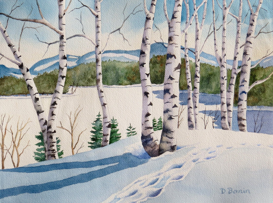Fresh Tracks - Artfest Ontario - Back-in-Time Gallery - Paintings by Donna Bonin - Paintings, Artwork & Sculpture