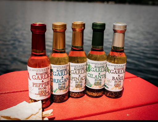 Garlic Lovers Savoury Oil Collection - Artfest Ontario - Manitoulin Gourmet / Hawberry Farms -