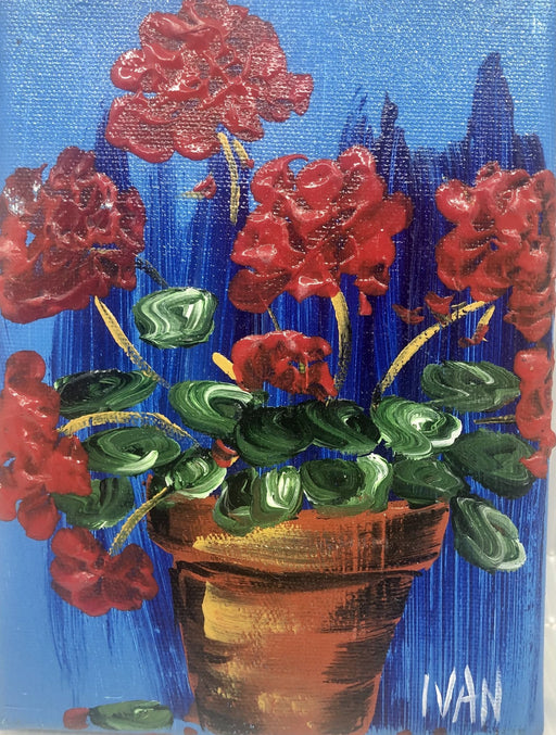 Geranium - Potted - Artfest Ontario - Art by Ivan - Painting