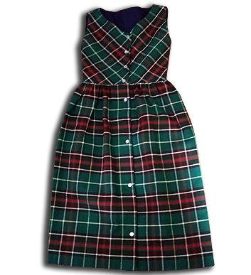 Girls Jumper - Green & Red Tartan Plaid - Artfest Ontario - Muffin Mouse Creations - Clothing & Accessories