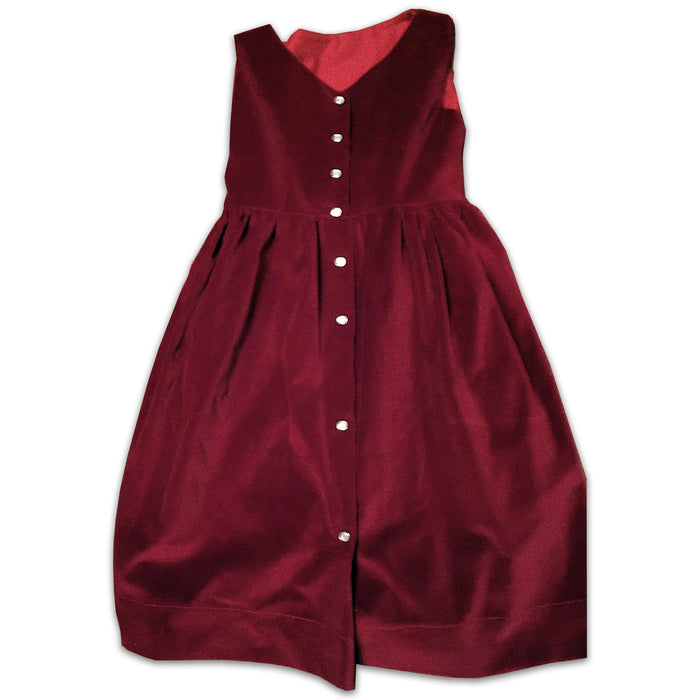 Girls Jumper- Red Wine Velveteen - Artfest Ontario - Muffin Mouse Creations - Clothing & Accessories