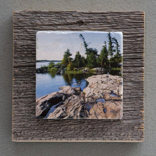 Glaciation Rock II - On Barn Board 0767 - Artfest Ontario - Art On Stone - Photography