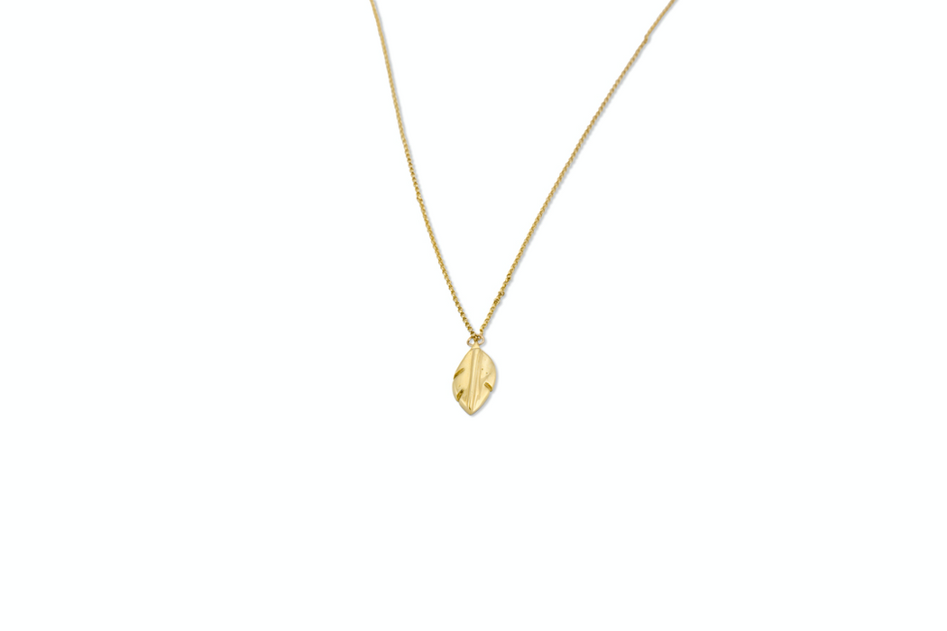 Leaf Pendant (Gold-Plated)