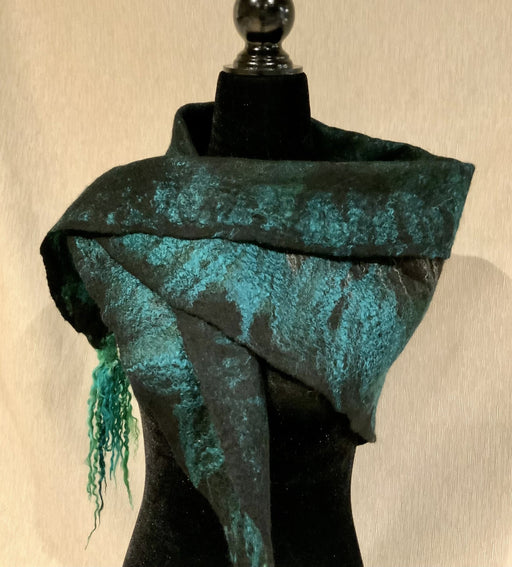 Green black luxury - Artfest Ontario - Love to Felt Artwear - Clothing & Accessories