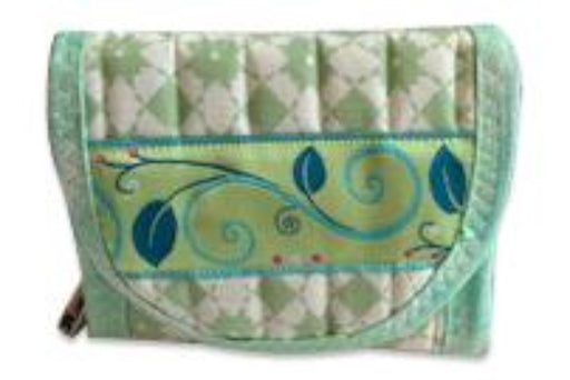 Green Everyday Pocket Wallet - Artfest Ontario - EMA Design Treasures - Quilted Products
