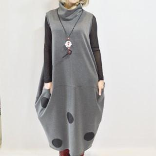 Grey Boho Dress - Artfest Ontario - OlgaG Knits - Clothing & Accessories