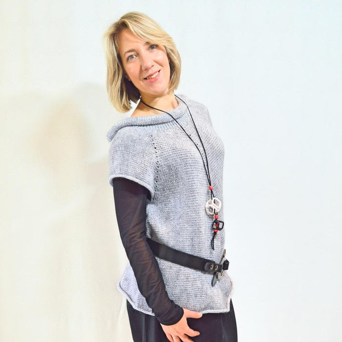 Grey LiLi Jacket - Artfest Ontario - OlgaG Knits - Clothing & Accessories