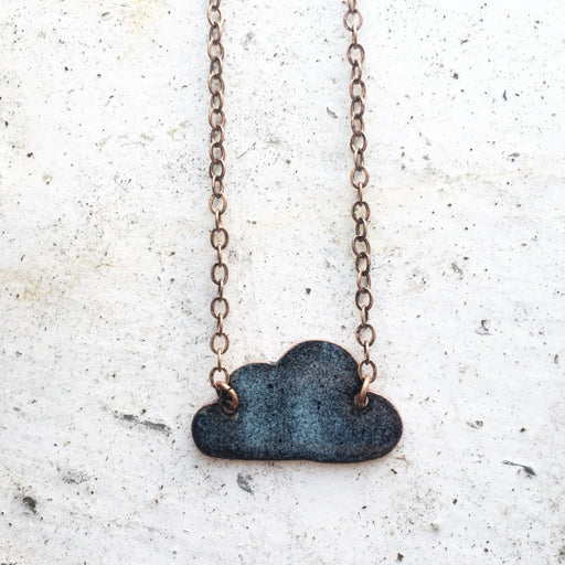Grumpy Cloud Necklace in Black & Grey - Artfest Ontario