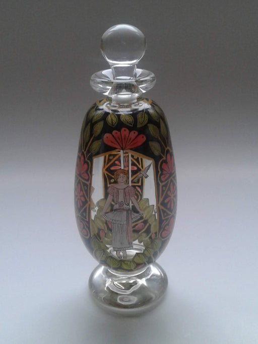 Hand Painted Perfume Bottle - Artfest Ontario - Lukian Glass Studios - Glass Work
