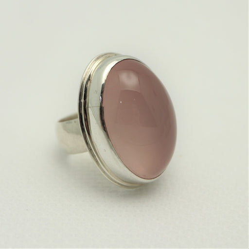 Helen - Rose Quartz and Sterling Silver Ring - Artfest Ontario - Devine Fine Jewellery - Ring