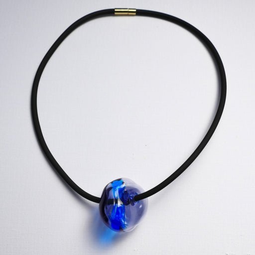 Hollow Bead Necklace (One Bead) - Artfest Ontario - Fire & Flame Glassworks - Glass Work