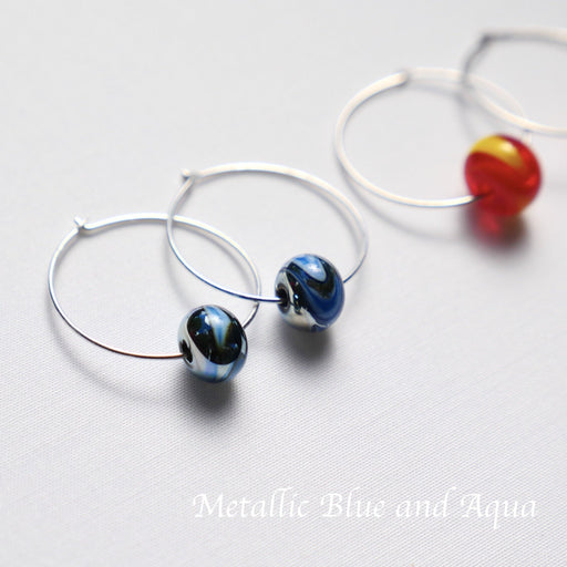 Hoop Earrings - Artfest Ontario - Fire & Flame Glassworks - Glass Work