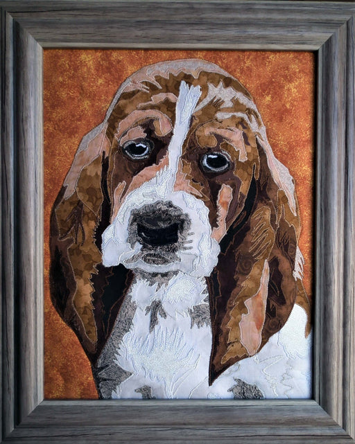 Hound Dog Quilted Portrait - Artfest Ontario - Tamara's Treasured Shop - Home Decor