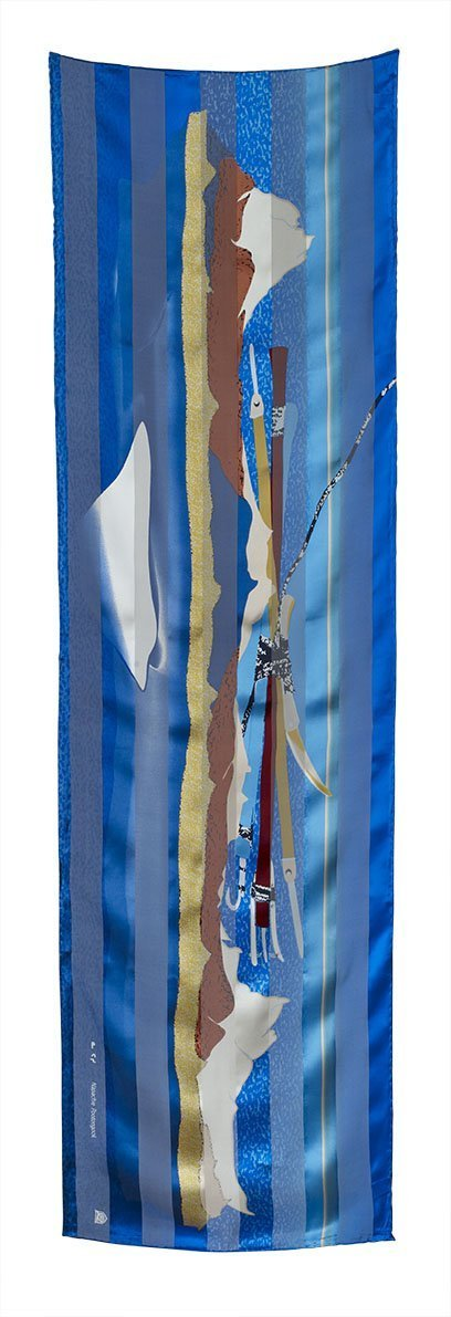 Ice Float Rectangular Scarf (Blue Heaven) - Artfest Ontario - Inunoo - Rectangular Scarves