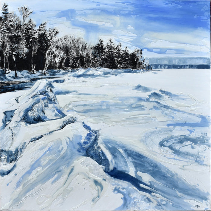Icescape X, 2020. - Artfest Ontario - Celina Melo - Paintings, Artwork & Sculpture