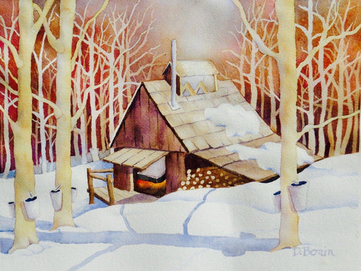 In the Sugarbush - Artfest Ontario - Back-in-Time Gallery - Paintings by Donna Bonin - Paintings, Artwork & Sculpture
