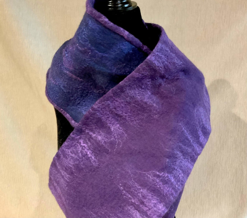 Infinity Blue and Purple - Artfest Ontario - Love to Felt Artwear - Clothing & Accessories