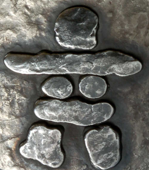 "Inuit Art Canadian Inukshuk Belt Buckle ~ Hand Forged Stainless Steel ~ Canadian Made ~ Canadian Souvenir ~ Belt Buckle fits 1-1/2"" Belt - Artfest Ontario - Iron Art - Clothing & Accessories"