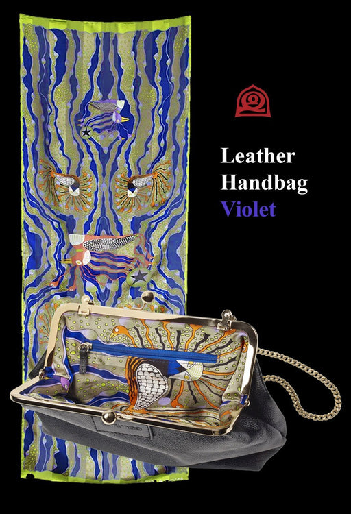 Inunoo Leather Handbag (Violet) - Artfest Ontario - Inunoo - Leather Handbags
