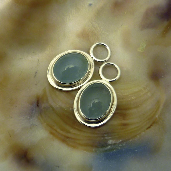Julie - Aquamarine - Artfest Ontario - Devine Fine Jewellery - Earrings - Hoops