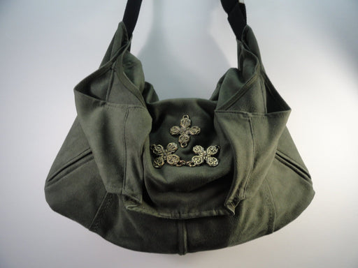 Kaki Shoulder Hobo Bag #1885 - Artfest Ontario - Revoila Handbags - Clothing & Accessories