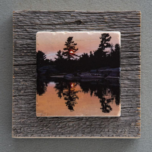 Killarney Sunset II - On Barn Board 0051 - Artfest Ontario - Art On Stone - Photography