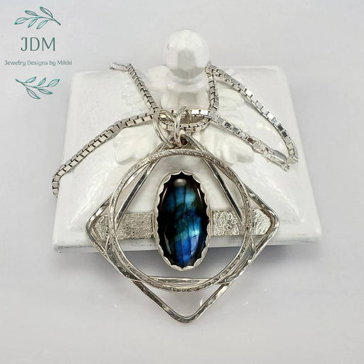 Labradorite Necklace - JDM Jewelry Designs by Mikki - Artfest Ontario - JDM - Jewelry Designs by Mikki - Jewelry & Accessories