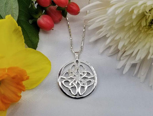 Large Sterling Round Celtic Knot Pendant on Fine Sterling Chain - Artfest Ontario - Delicate Touch Jewellery - Fine Jewellery