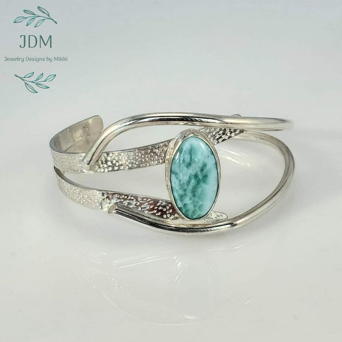 Larimar Cuff - JDM Jewelry Designs by Mikki - Artfest Ontario - JDM - Jewelry Designs by Mikki - Jewelry & Accessories
