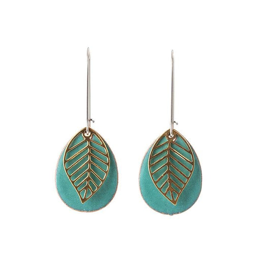 Leaf Teardrop Earrings in Various Colors - Artfest Ontario