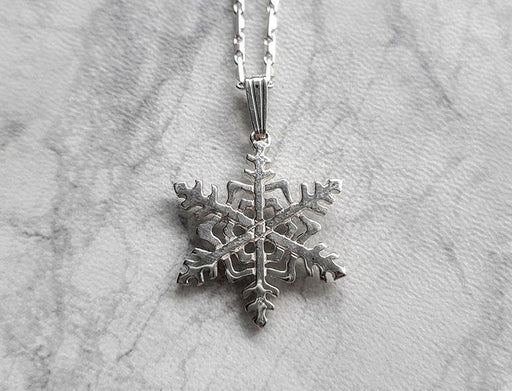 Let It Snow - Sterling Snowflake Pendant on Chain - Artfest Ontario - Delicate Touch Jewellery - Fine Jewellery