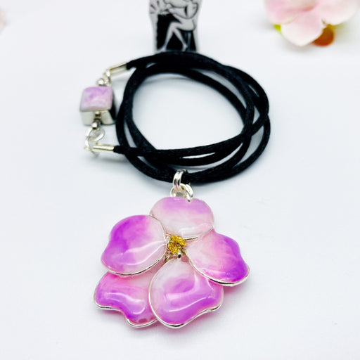 Light Pink Pansy Necklace - Artfest Ontario - Studio Degas - Jewelry & Accessories