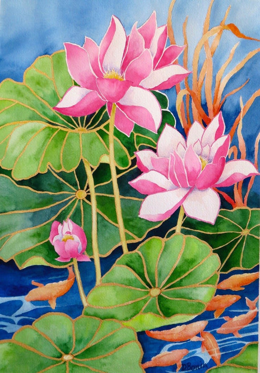 Lily Pond - Artfest Ontario - Back-in-Time Gallery - Paintings by Donna Bonin - Paintings, Artwork & Sculpture